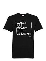 M SS WALLS CLIMB TEE - TNF BLACK-MELD GREY