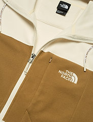 The North Face - M BLOCKED FZ HD - mid layer jackets - vintage white-utility brown - 2