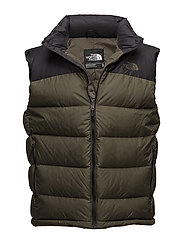 M NUPTSE 2 VEST - TNF BLACK/NEW TAUPE GREEN