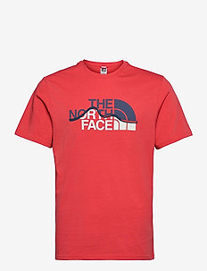 M S/S MOUNT LINE TEE - t-shirts à manches courtes - rococco red