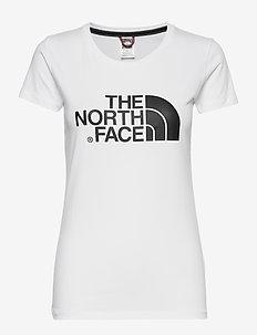 W S/S EASY TEE - logo t-shirts - tnfwhit/tnfwhit