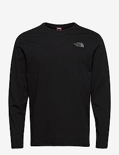 M L/S EASY TEE - t-shirts à manches longues - tnf blk/zinc gr