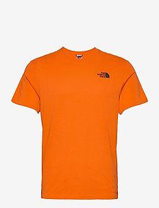 M S/S RED BOX TEE - kortärmade t-shirts - flame
