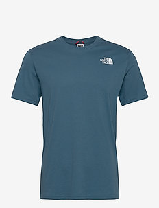 M S/S RED BOX TEE - sportstopper - mallard blue/tnf black