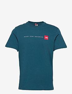 M S/S NSE TEE - sportstopper - monterey blue
