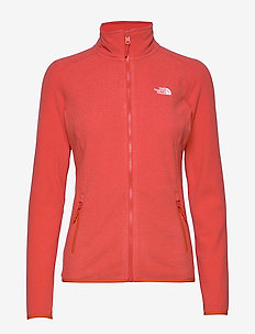 W 100 GLACIER FULL ZIP - EU - mittlere lage aus fleece - cayenne red