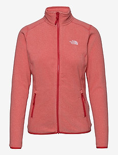 W 100 GLACIER FULL ZIP - EU - fleece - horizon red-pearl blush