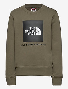 Y BOX CREW - sweatshirts - new taupe green/tnf black