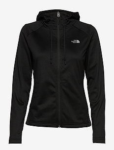 W TECH MEZZALUNA HOODIE - EU - fleece - tnf black