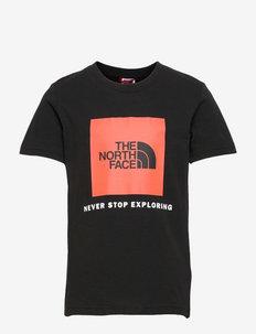 Y BOX S/S TEE - short-sleeved t-shirts - tnfblk/redorang