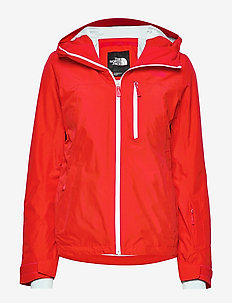 W DESCENDIT JACKET FIERY RED - insulated jackets - fiery red