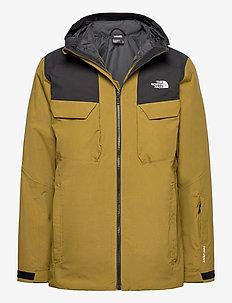 M FOURBARREL TRI JKT - vestes de ski - fir green/tnf black