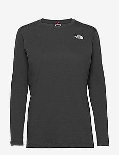 W L/S SIMPLEDOME TEE - bluzki z długim rękawem - asphalt grey