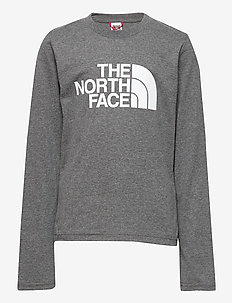 Y L/S EASY TEE - långärmade t-shirts - tnf medium grey heather