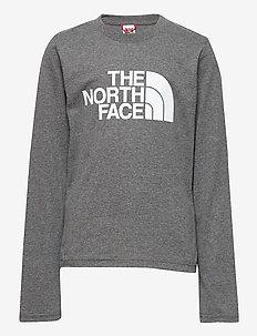 Y L/S EASY TEE - langermede t-skjorter - tnf medium grey heather