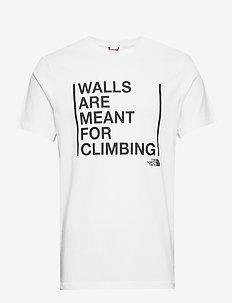 M SS WALLS CLIMB TEE - krótki rękaw - tnf white
