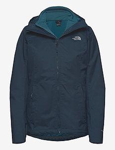 W QUEST TRICL - vestes d'extérieur et de pluie - urban navy/mallard blue