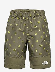 B HI CL 5 WTR SHRT - sportshorts - new taupe green camp essentials print