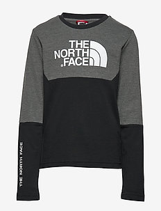 Y SOUTH PEAK L/S TEE - BLACK/GREY H