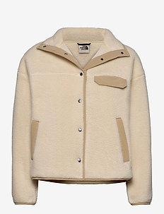 W CRAGMONT FLC JKT - mid layer jackets - bleachdsand/hawthornkhaki