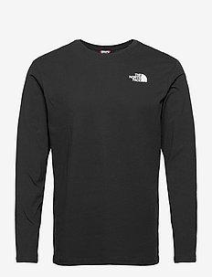 M L/S RED BOX TEE - långärmade t-shirts - tnf black