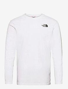M L/S RED BOX TEE - långärmade t-shirts - tnf white