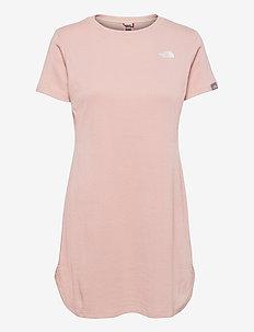 W SIMPLE DM DRESS - t-shirt dresses - evening sand pink