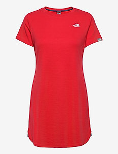 W SIMPLE DM DRESS - tshirt jurken - horizon red