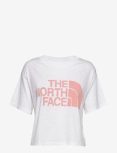 W SS HD CROP TEE - logo t-shirts - tnf white