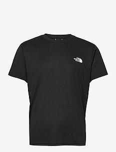 M REAXION RED BOX TE - kortærmede t-shirts - tnf black/tnf white