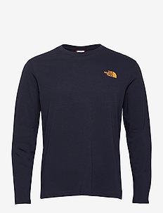 M L/S GRAPHIC TEE - langarmshirts - aviator navy