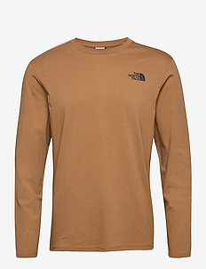 M L/S GRAPHIC TEE - top met lange mouwen - utility brown