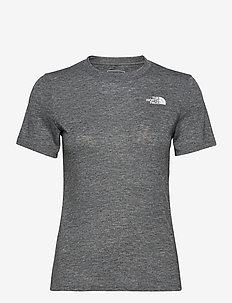 W AT NOVELTY S/S - t-shirts - tnf black heather