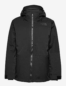 M CHAKAL JKT - vestes de ski - tnf black heather/tnf blk