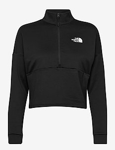 W AT 1/4 ZIP - mellomlag i fleece - tnf black