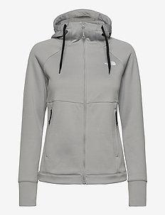 W HIKEST MIDLAY-SG - mid layer jackets - meld grey