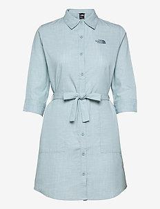W BERNINA DRESS - sommerkjoler - tourmaline blue chambray