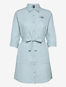 W BERNINA DRESS - summer dresses - tourmaline blue chambray