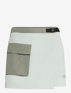 W PRMNT SKRT - outdoor shorts - wrought iron-agave green