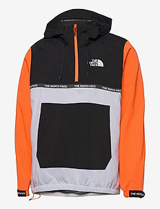 M MA WIND JKT - jakker og regnjakker - tnf white-tnf black-shocking orange
