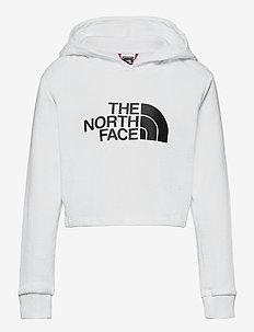G DRW PK CROP P/O HD - hoodies - tnf white