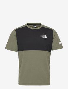 M MA HYBD SS TEE - EU - t-shirts - thyme/tnf black