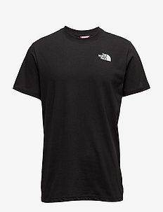 M S/S RED BOX TEE - t-shirts - tnf black