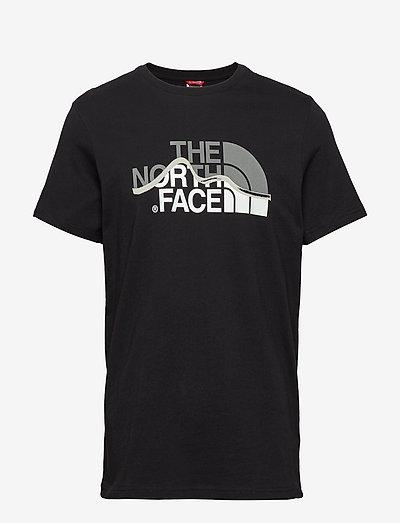 M S/S MOUNT LINE TEE - t-shirts à manches courtes - tnf black