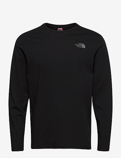 M L/S EASY TEE - t-shirts à manches longues - tnf black-zinc grey