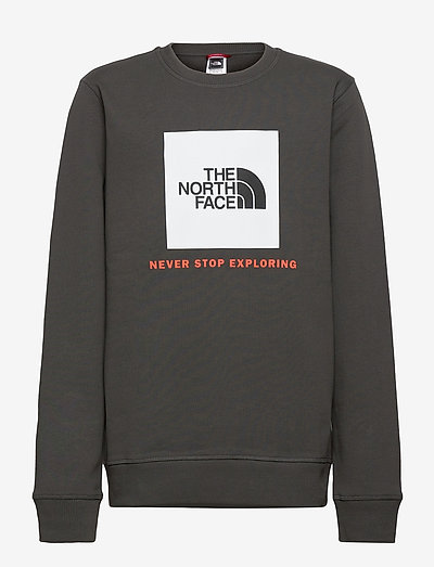Y BOX CREW - sweaters - asphgr/redorang