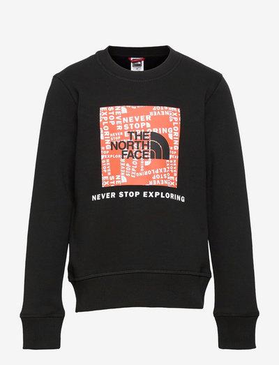Y BOX CREW - sweaters - tnfblk/redorang