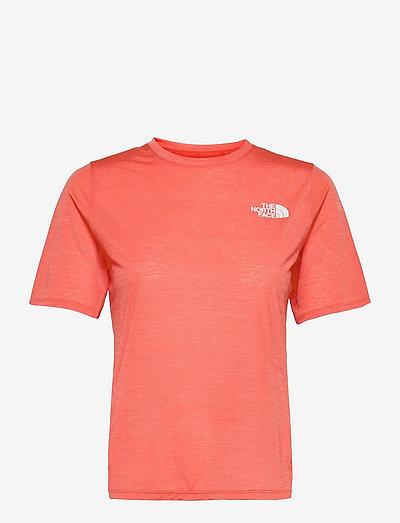 W UP WT SUN S/S SHRT - t-shirts - emberglow ornge