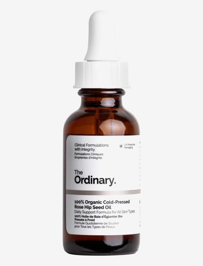 100% Organic Cold-Pressed Rose Hip Seed Oil - ansiktsoljer - clear