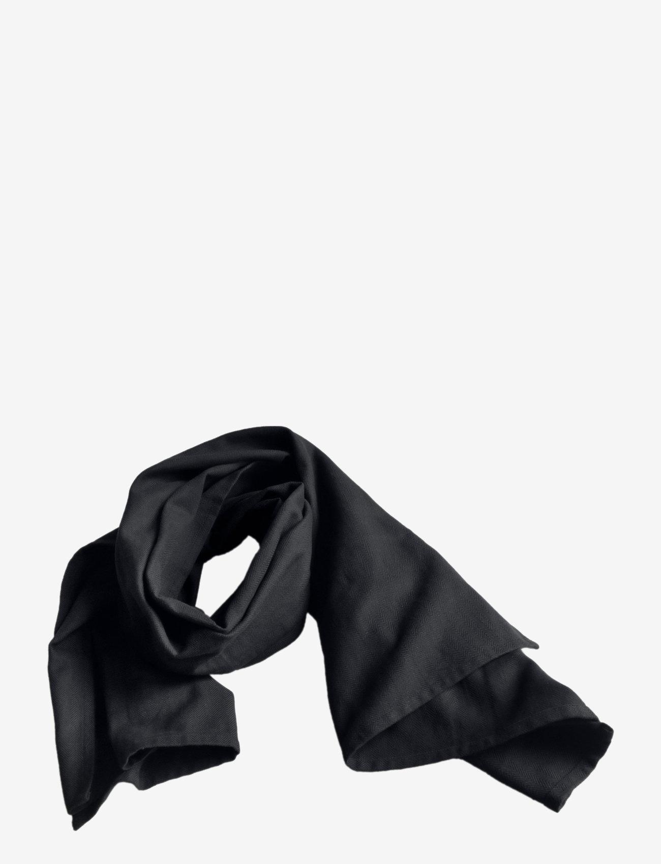 The Organic Company - Towel Scarf - tynde tørklæder - 100 black - 0